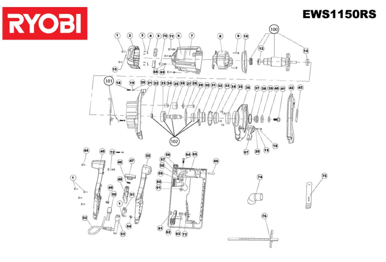 Ryobi Spare Parts Uk 790r Diagrams Shoulders Of Shoreham Czci Zamienne Do Pilarek Tarczowych Ews1150rs 5133002247 Rasenmher Akku Rlm3640li