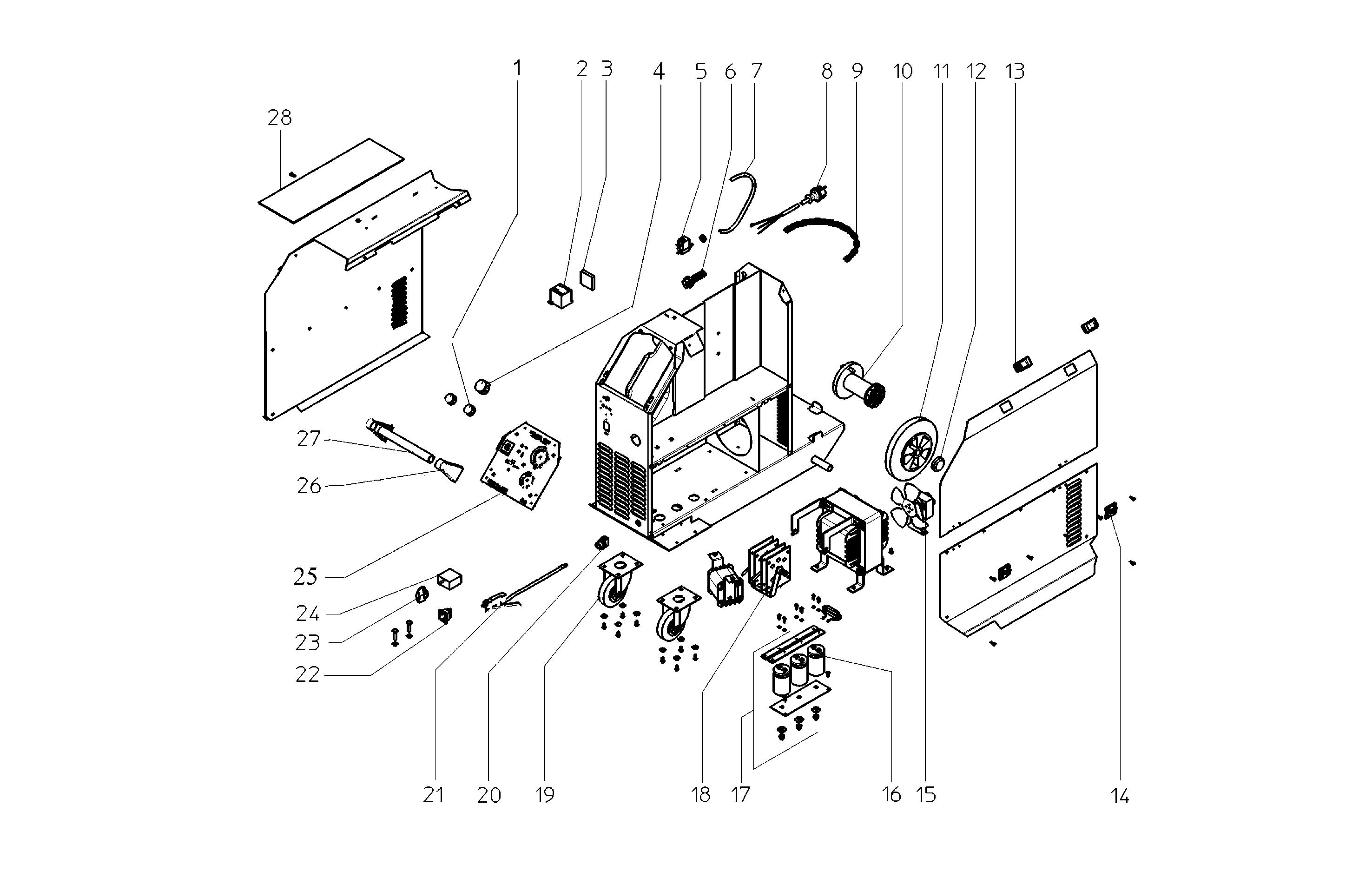 Czci Zamienne Do Spawarki Mig Mag150 20xt Sklep Z Czciami Metabo Wiring Diagram Mag 150 20 Xt 0021031700 11